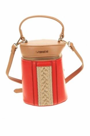 Дамска чанта Verde, Цвят Червен, Еко кожа, Цена 26,22лв.
