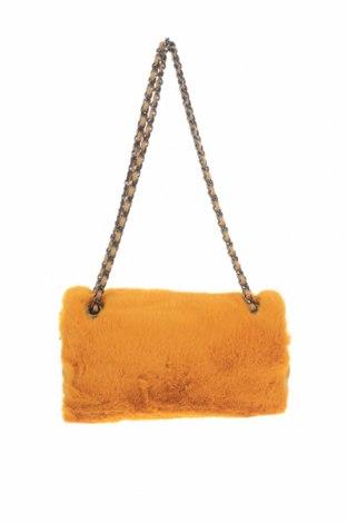 Дамска чанта Verde, Цвят Жълт, Текстил, Цена 11,73лв.