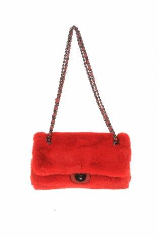 Дамска чанта Verde, Цвят Червен, Текстил, Цена 11,73лв.