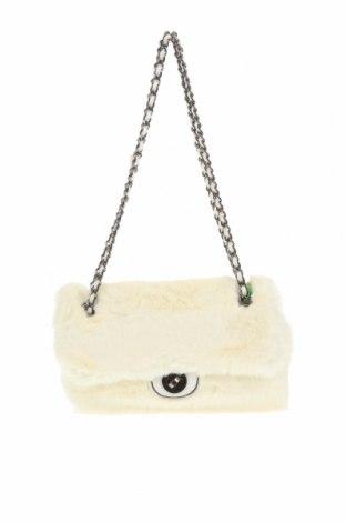 Дамска чанта Verde, Цвят Бял, Текстил, Цена 11,73лв.