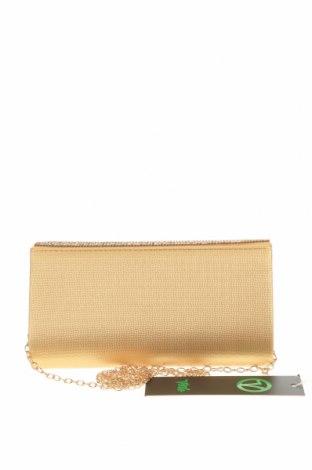 Дамска чанта Verde, Цвят Златист, Текстил, Цена 22,42лв.