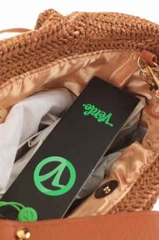 Дамска чанта Verde, Цвят Бежов, Текстил, Цена 13,80лв.