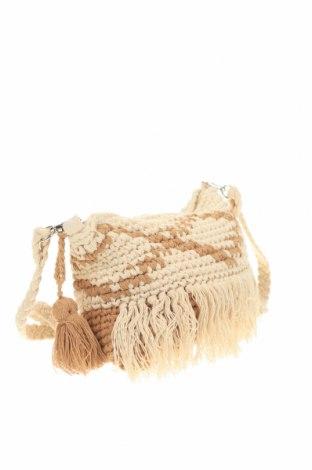 Дамска чанта Verde, Цвят Бежов, Текстил, Цена 9,60лв.