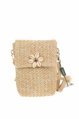 Дамска чанта Verde, Цвят Бежов, Текстил, Цена 23,22лв.