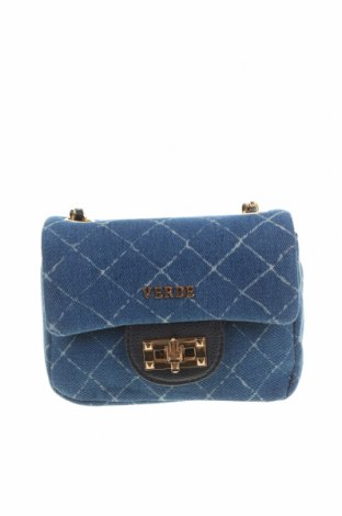 Дамска чанта Verde, Цвят Син, Текстил, Цена 11,80лв.