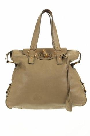 Дамска чанта Yves Saint Laurent, Цвят Зелен, Естествена кожа, Цена 596,70лв.