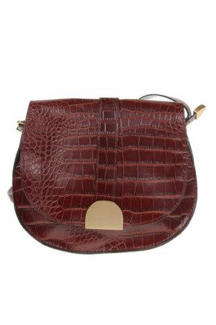 Дамска чанта Zara Trafaluc, Цвят Кафяв, Еко кожа, Цена 30,92лв.