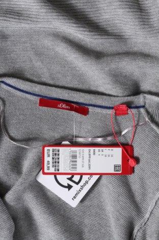 Дамска жилетка S.Oliver, Размер XS, Цвят Сив, 60% вискоза, 20% полиамид, 20% памук, Цена 30,02лв.