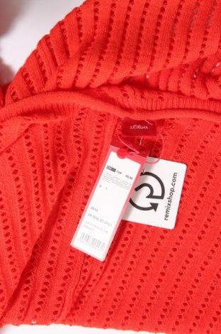 Дамска жилетка S.Oliver, Размер M, Цвят Оранжев, 45% вискоза, 28% полиамид, 27% полиестер, Цена 7,35лв.