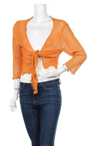 Дамска жилетка Tom Tailor, Размер L, Цвят Оранжев, 66% акрил, 34% полиамид, Цена 9,66лв.