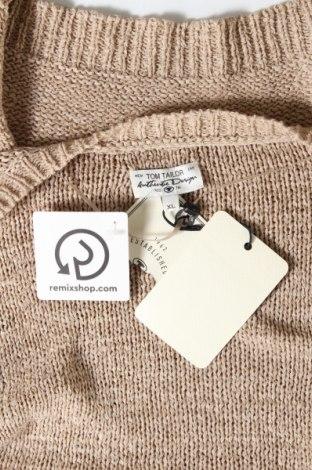 Дамска жилетка Tom Tailor, Размер XL, Цвят Кафяв, 60% полиакрил, 40% полиамид, Цена 21,33лв.
