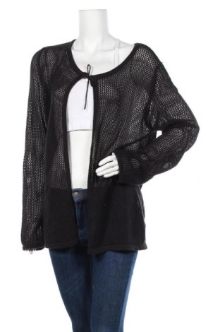 Γυναικεία ζακέτα Tom Tailor, Μέγεθος XXL, Χρώμα Μαύρο, Βαμβάκι, Τιμή 24,43€