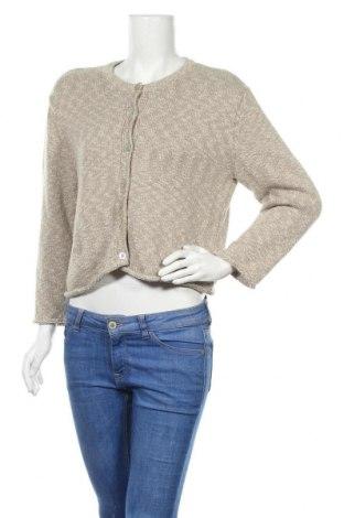 Дамска жилетка Zara, Размер L, Цвят Бежов, 50% памук, 42% полиестер, 8% лен, Цена 12,96лв.