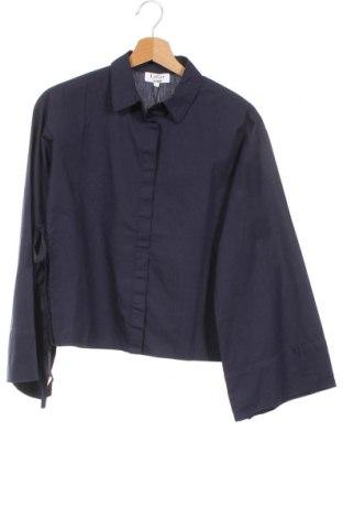 Γυναικείο πουκάμισο About You, Μέγεθος XS, Χρώμα Μπλέ, Βαμβάκι, Τιμή 16,70€