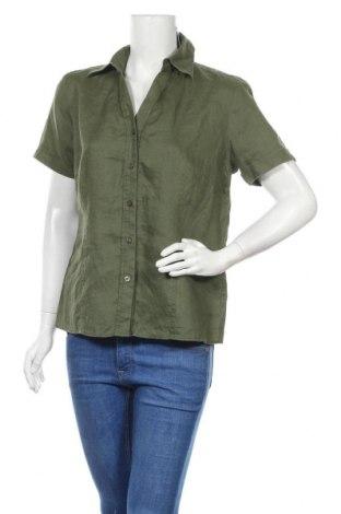 Γυναικείο πουκάμισο Essentiel, Μέγεθος L, Χρώμα Πράσινο, Λινό, Τιμή 16,70€
