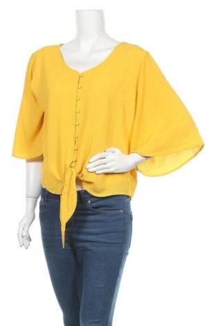 Γυναικείο πουκάμισο Liz Jordan, Μέγεθος XL, Χρώμα Κίτρινο, 97% πολυεστέρας, 3% ελαστάνη, Τιμή 11,04€