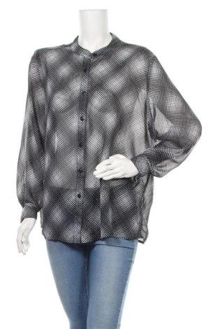 Γυναικείο πουκάμισο Liz Jordan, Μέγεθος XXL, Χρώμα Γκρί, Πολυεστέρας, Τιμή 6,33€