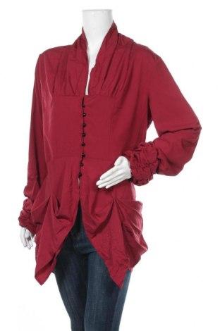 Дамска риза Miss Look, Размер XXL, Цвят Червен, Полиестер, памук, Цена 18,90лв.