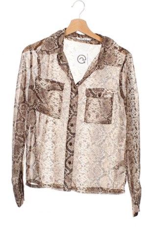 Γυναικείο πουκάμισο Na-Kd, Μέγεθος XS, Χρώμα Καφέ, Πολυεστέρας, Τιμή 11,04€