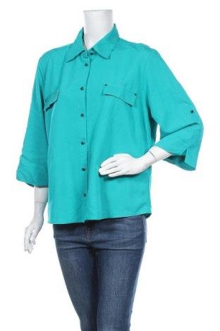 Γυναικείο πουκάμισο Noni B, Μέγεθος XL, Χρώμα Πράσινο, 75% βισκόζη, 25% πολυεστέρας, Τιμή 23,38€