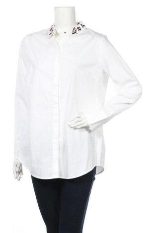 Γυναικείο πουκάμισο S.Oliver, Μέγεθος L, Χρώμα Λευκό, 97% βαμβάκι, 3% ελαστάνη, Τιμή 24,32€