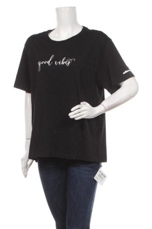 Γυναικείο t-shirt, Μέγεθος XXL, Χρώμα Μαύρο, Βαμβάκι, Τιμή 8,02€