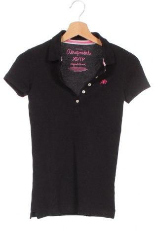 Γυναικείο t-shirt Aeropostale, Μέγεθος XS, Χρώμα Μαύρο, 95% βαμβάκι, 5% ελαστάνη, Τιμή 8,18€