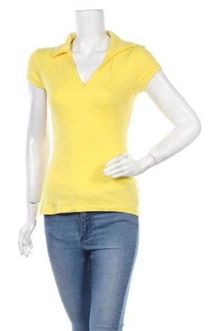 Дамска тениска Ann Christine, Размер L, Цвят Жълт, Памук, Цена 12,60лв.