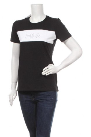 Дамска тениска Fila, Размер M, Цвят Черен, 50% памук, 50% полиестер, Цена 18,90лв.