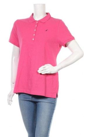Γυναικείο t-shirt Nautica, Μέγεθος XL, Χρώμα Ρόζ , 96% βαμβάκι, 4% ελαστάνη, Τιμή 40,11€