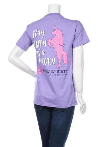 Дамска тениска Simply Southern, Размер S, Цвят Лилав, Памук, Цена 19,50лв.