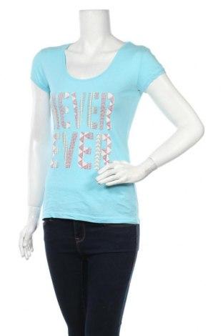 Дамска тениска Takko Fashion, Размер M, Цвят Син, Памук, Цена 12,60лв.