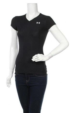Γυναικείο t-shirt Under Armour, Μέγεθος M, Χρώμα Μαύρο, 82% πολυεστέρας, 18% ελαστάνη, Τιμή 13,51€