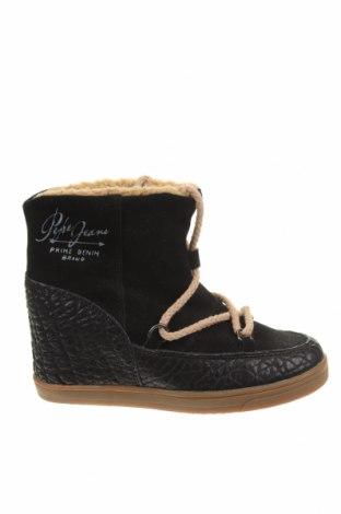 Botine de damă Pepe Jeans, Mărime 38, Culoare Negru, Velur natural, piele naturală, Preț 588,82 Lei
