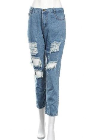 Дамски дънки, Размер L, Цвят Син, 90% памук, 10% еластан, Цена 24,15лв.