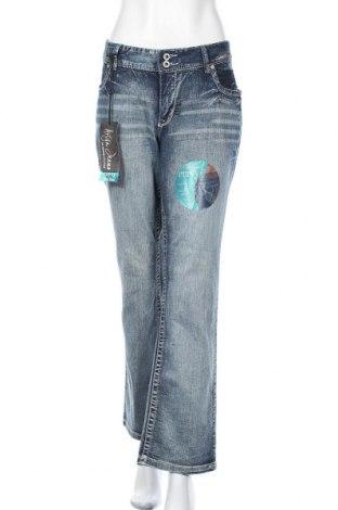 Дамски дънки Ariya Jeans, Размер XXL, Цвят Син, 94% памук, 4% полиестер, 2% еластан, Цена 28,35лв.