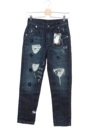 Дамски дънки Atos Lombardini, Размер XS, Цвят Син, 60% памук, 40% лиосел, Цена 44,10лв.