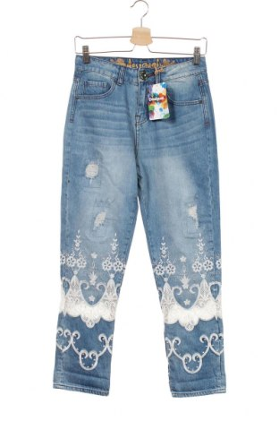 Dámské džíny  Desigual, Velikost XS, Barva Modrá, 97% bavlna, 3% polyester, Cena  1788,00Kč