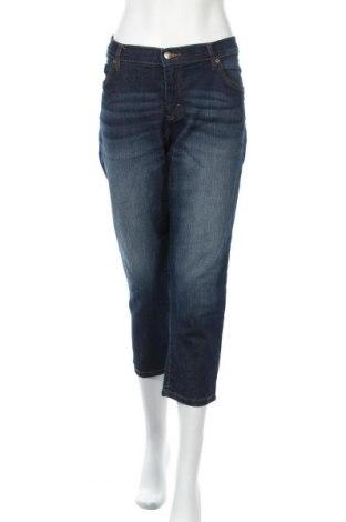 Дамски дънки John Baner, Размер XL, Цвят Син, 82% памук, 17% полиестер, 1% еластан, Цена 22,05лв.
