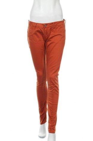 Дамски дънки Le Temps Des Cerises, Размер L, Цвят Оранжев, Памук, еластан, Цена 14,30лв.