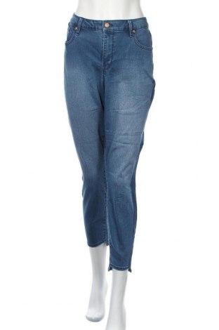 Дамски дънки Martha Stewart, Размер XL, Цвят Син, 56% памук, 26% полиестер, 17% модал, 1% еластан, Цена 27,30лв.