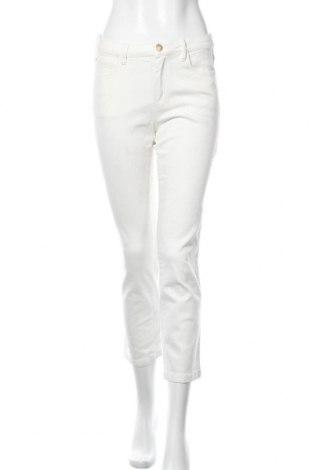Дамски дънки Massimo Dutti, Размер S, Цвят Бял, 98% памук, 2% еластан, Цена 31,60лв.