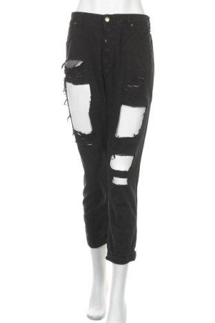 Дамски дънки Met, Размер XL, Цвят Черен, 97% памук, 3% еластан, Цена 49,17лв.