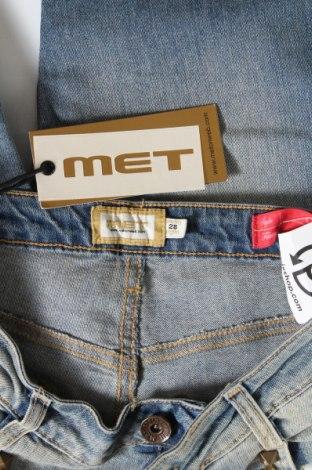 Дамски дънки Met, Размер M, Цвят Син, 98% памук, 2% еластан, Цена 111,75лв.