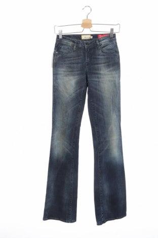 Дамски дънки Met, Размер S, Цвят Син, 98% памук, 2% еластан, Цена 31,15лв.