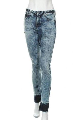 Дамски дънки Met, Размер S, Цвят Син, 98% памук, 2% еластан, Цена 39,27лв.