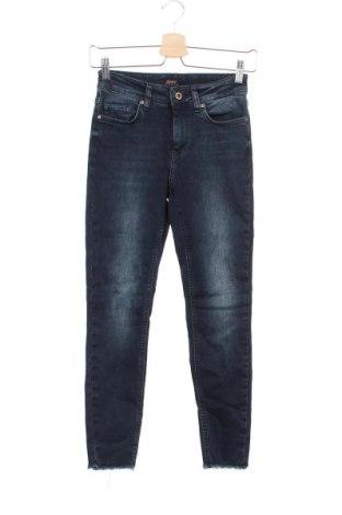 Дамски дънки ONLY, Размер S, Цвят Син, 92% памук, 6% полиестер, 2% еластан, Цена 40,50лв.