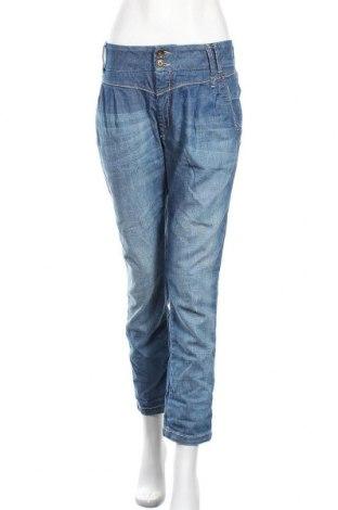 Дамски дънки ONLY, Размер L, Цвят Син, 98% памук, 2% еластан, Цена 20,95лв.