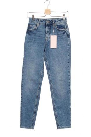 Дамски дънки Pieces, Размер XS, Цвят Син, 98% памук, 2% еластан, Цена 43,45лв.