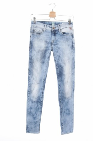 Dámské džíny  Replay, Velikost XS, Barva Modrá, 97% bavlna, 3% elastan, Cena  382,00Kč